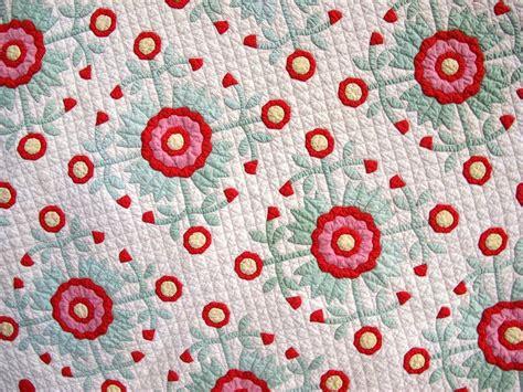 Handmade Applique Quilts - handmade antique applique quilt and green cotton