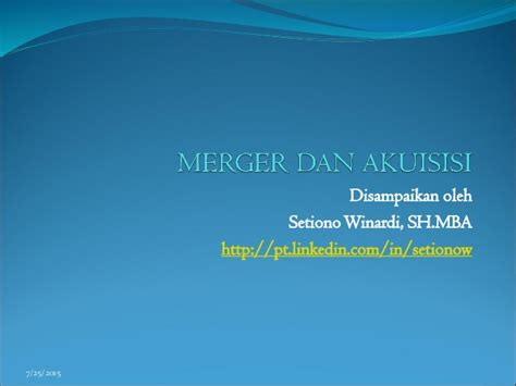 Mergers And Acquisitions Mba by Merger Dan Acqusition