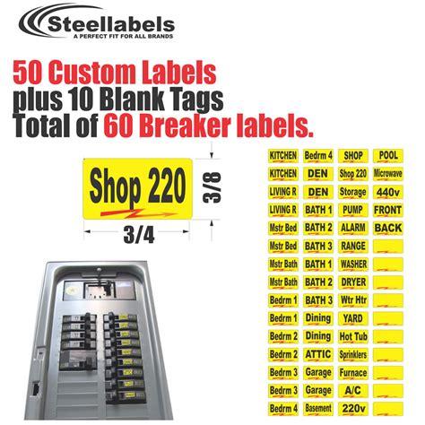 breaker box labels
