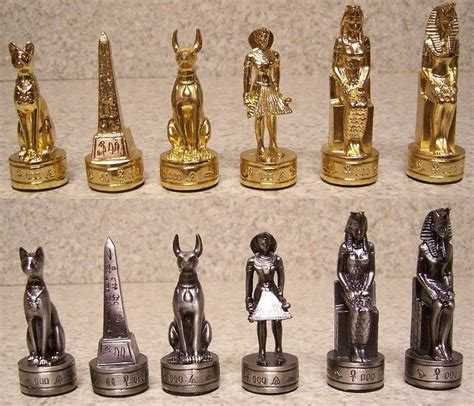 ancient chess set chess set pieces pewter ancient egypt nib ebay