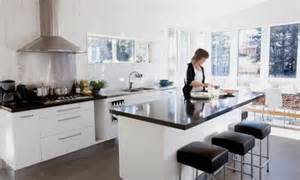 Ikea Kitchen Islands With Breakfast Bar Black Kitchen Bench Top White Cupboards Inspiration For