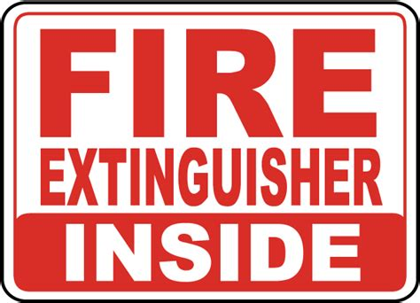 Sign Label Extinguisher extinguisher inside sign a5046 by safetysign