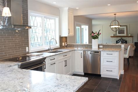 white cabinets with white granite snow white quartz countertop on painted white cabinets