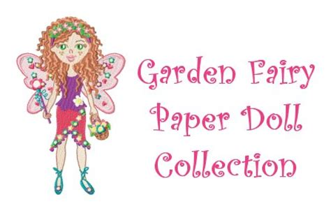 design doll licence garden fairy paper doll machine embroidery designs