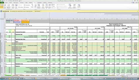project estimation excel template construction cost estimate sheet archives