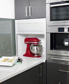 kitchen appliance storage on kitchen storage