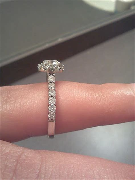 Side Ring side view of your halo e rings pic heavy weddingbee
