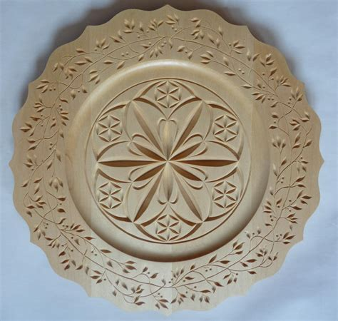 plate patterns scalloped rim plate my chip carving