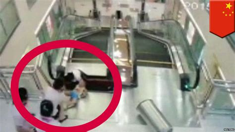 crushed by escalator crushed to in escalator after