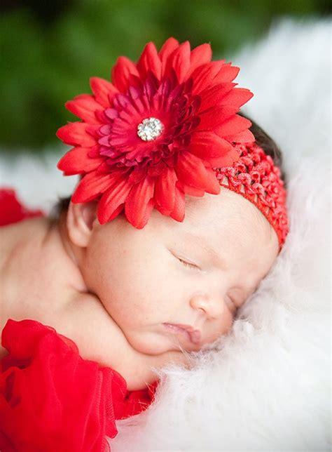 Baby Flower Headband apple silk flower baby headband