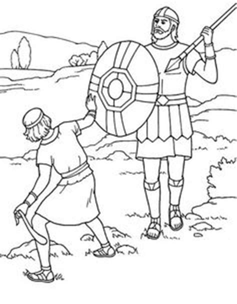 david and goliath coloring pages for toddlers free printable bible coloring page inspiration