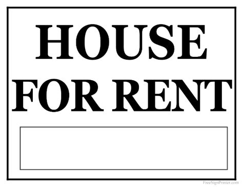 printable house for rent sign printable house for rent sign