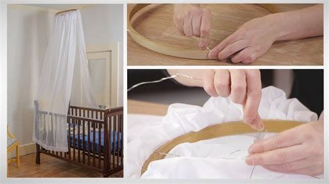 How To Make A Canopy For A Crib by How To Make A No Sew Crib Canopy