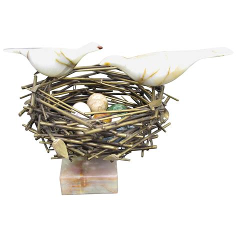 bird nest sculpture by curtis jere for sale at 1stdibs