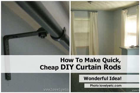 make cheap curtain rods how to make quick cheap diy curtain rods