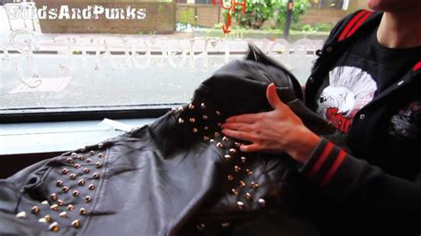 how to do punk how to stud a leather jacket or vintage and punk clothes