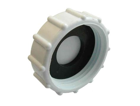 1 inch bsp plastic cap blank nut and washer - 1 Plastic Cap