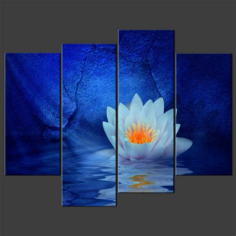 canvas prints blue water lily canvas wall art pictures prints decor larger sizes available canvas print art