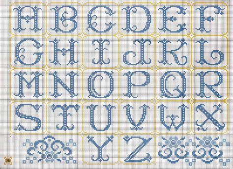 lettere a punto croce schemi alfabeto monocolore magiedifilo it punto croce