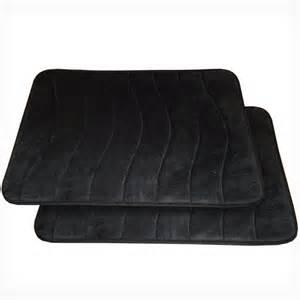 memory foam bath mat black spasoft memory foam bath mats