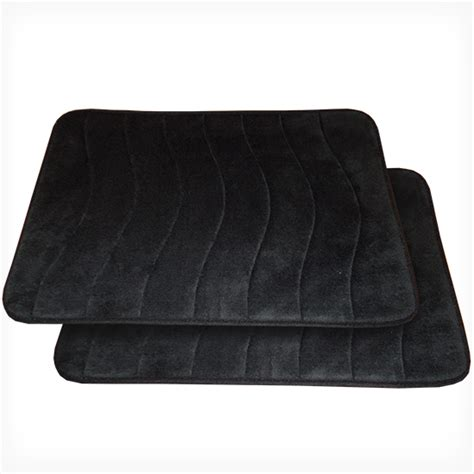 black bathtub mat spasoft memory foam bath mats