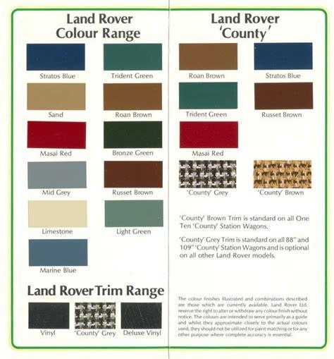 land rover colour codes paint quality prep colour codes advice req d