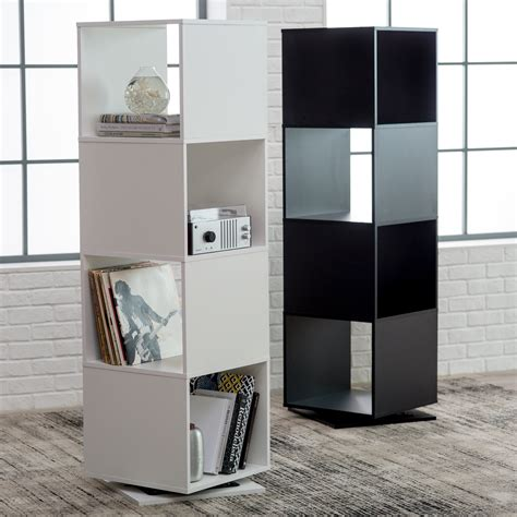 hudson 9 cube bookcase finley home hudson 4 cube rotating bookcase bookcases at