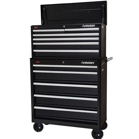 Husky 32 Steel Cabinet by Husky Black Steel 36 In 11 Drawer Tool Chest And Cabinet