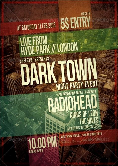Music Event Flyer Poster Template By Shelby67 Graphicriver Graphicriver Event Flyer Template
