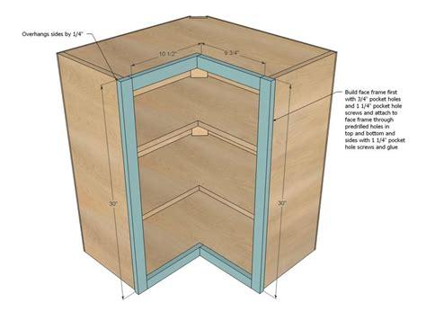 Ana White   Build a Wall Corner Pie Cut Kitchen Cabinet