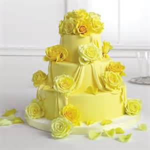 Cheap Flowers Seattle - draped yellow fondant cake with roses call us 206 728