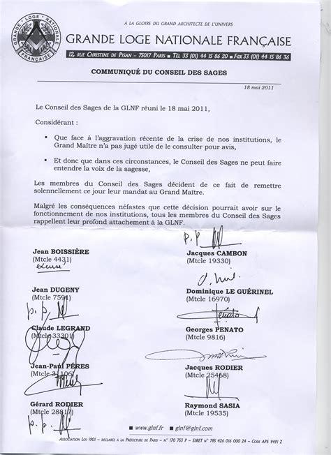 Exemple Lettre Demission Franc Maconnerie Modele Lettre De Demission De La Franc Maconnerie