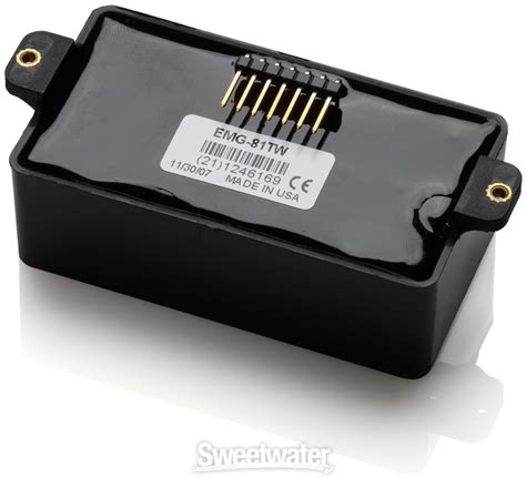 Emg Technologist by Emg 81tw Active Ceramic Coil Splitting Humbucker Guitar Black Sweetwater