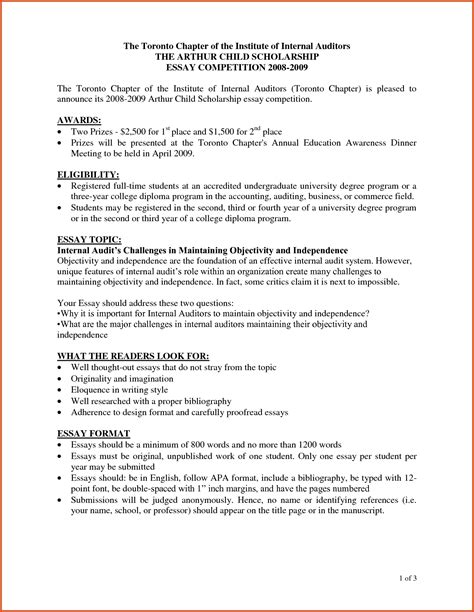 Letter Format 2018 scholarship essay format heading world of exle