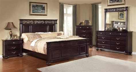 bedroom furniture syracuse ny cm7139 syracuse bedroom in dark walnut w options
