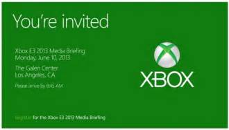 microsoft starts sending invitation for its pre e3 xbox