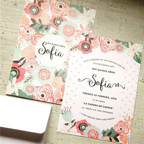 tarjeta de 15 floral chic tarjetas de 15 m 225 s de 25 ideas incre 237 bles sobre tarjeta 15 a 241 os en tarjetas de 15 originales