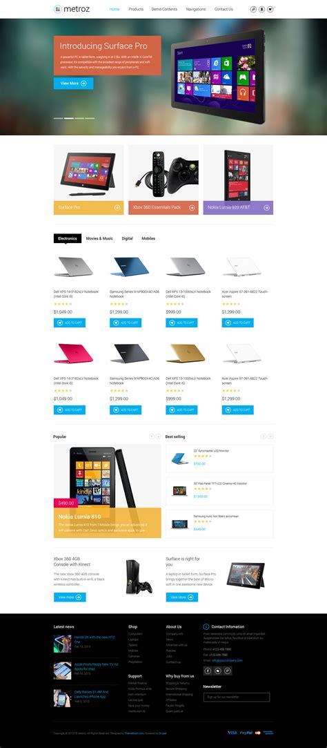 theme drupal slideshow preview on responsive drupal ecommerce theme tb metroz