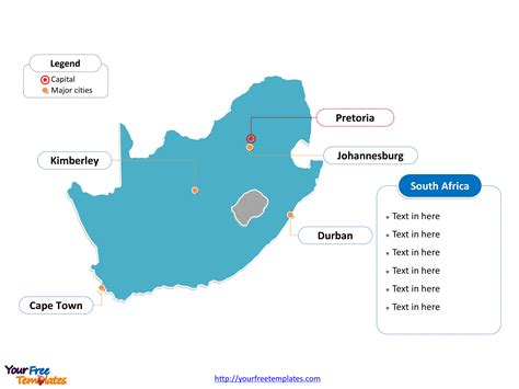 Outline Map Of South Africa With Major Cities free south africa editable map free powerpoint templates