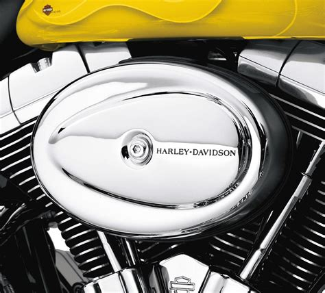 Harley Davidson Air 29754 01 h d air cleaner cover chrome for softail 01 later