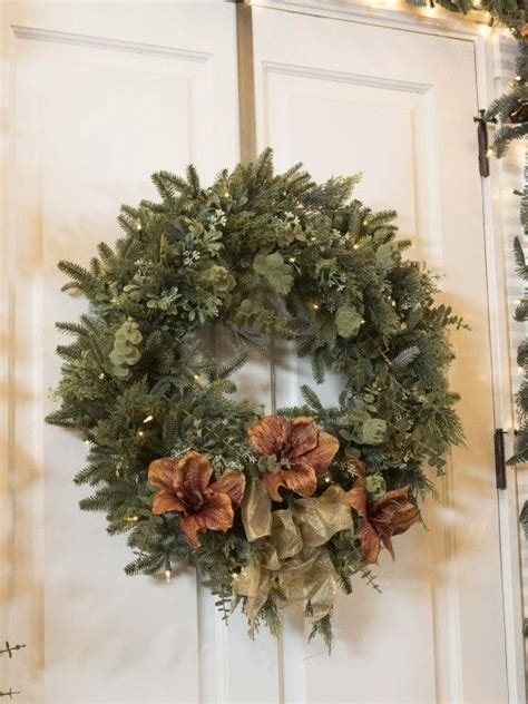 Holiday Wreath Bh Fraser Fir Meadow Wreath Embellished With Floral Sprays