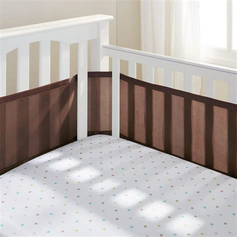 Crib Mattress Liner Breathable Baby Mesh Crib Liner Brown Tjskids Vancouver Baby Store Crib Bumpers