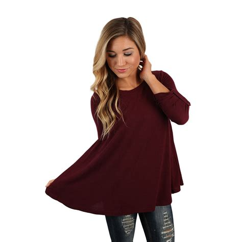 V Maroon Top by Dinner A Top In Maroon Impressions