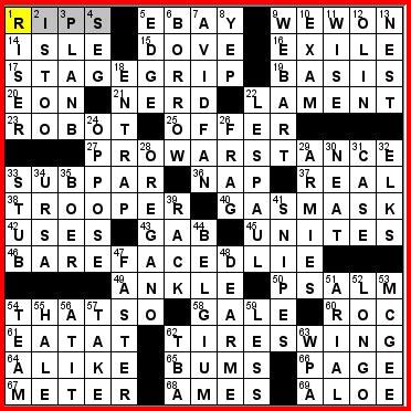 recurring themes crossword puzzle clue saturday 5 12 12