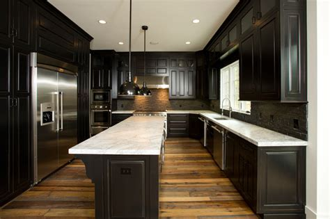 reclaimed wide plank flooring traditional kitchen