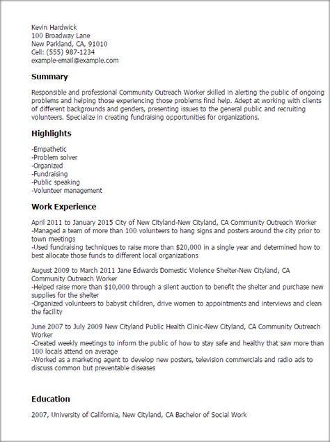 outreach worker cover letter professional community outreach worker templates to