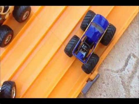 monster truck drag racing hotwheels monster truck drag racing 2 youtube