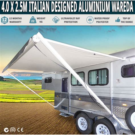 retractable caravan awnings retractable roll out caravan side awning 4 0x2 5m buy
