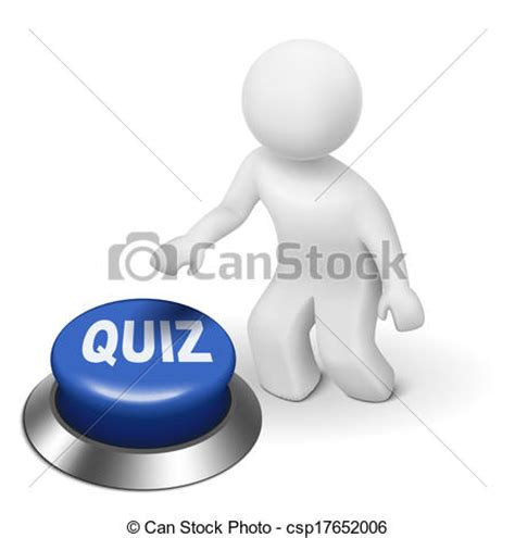 can stock photo clipart 3d is pushing the quiz stock illustration instant