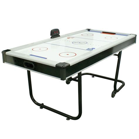 Folding Air Hockey Table The Space Saving Air Hockey Table Hammacher Schlemmer